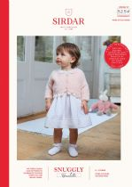 Sirdar Snuggly Bouclette Knitting Pattern Booklet - 5257 Girls Cardigan & Doll's Cardigan